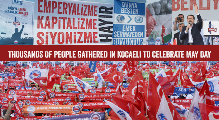 Thousands of people gathered in Kocaeli to celebrate May Day