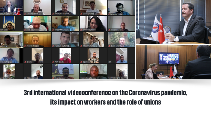 3rd international videoconference on the Coronavirus pandemic, its impact on workers and the role of unions