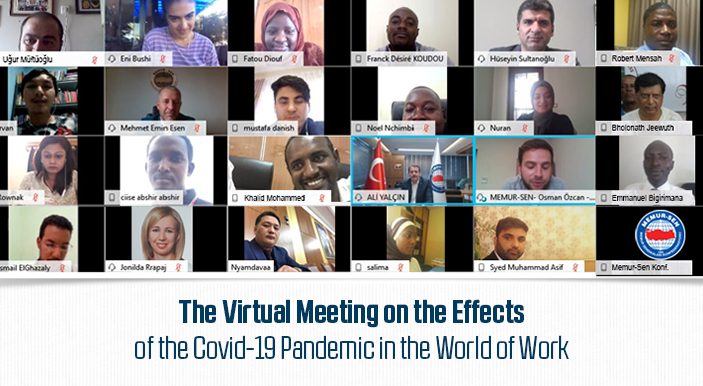 The Virtual Meeting on the Effects of the Covid-19 Pandemic in the World of Work