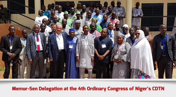 Memur-Sen Delegation at the 4th Ordinary Congress of Niger's CDTN
