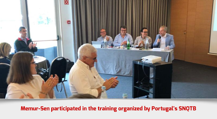 Memur-Sen participated in the training organized by Portugal's SNQTB