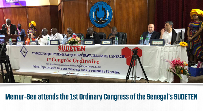 Memur-Sen attends the 1st Ordinary Congress of the Senegal's SUDETEN