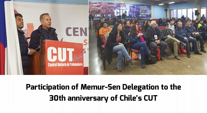 Participation of Memur-Sen Delegation to the 30th anniversary of Chile's CUT