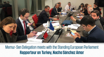Memur-Sen Delegation meets with the Standing European Parliament Rapporteur on Turkey