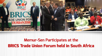 Memur-Sen Participates at the BRICS Trade Union Forum held in South Africa