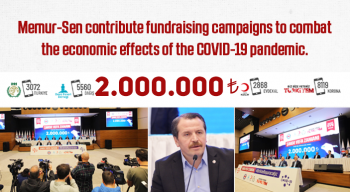 Memur-Sen contribute fundraising campaigns to combat the economic effects of the COVID-19 pandemic.