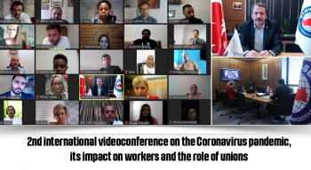2nd international videoconference on the Coronavirus pandemic, its impact on workers and the role of unions