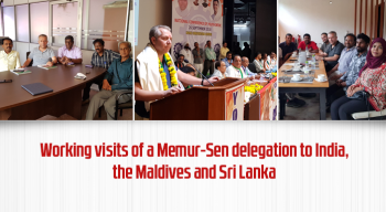 Working visits of a Memur-Sen delegation to India, the Maldives and Sri Lanka.