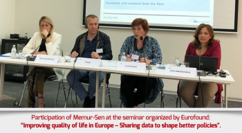 "Participation of Memur-Sen at the seminar organized by Eurofound: ""Improving quality of life in Europe – Sharing data to shape better policies""."
