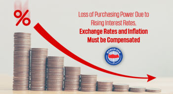 Loss of Purchasing Power Due to Rising Interest Rates, Exchange Rates and Inflation Must be Compensated