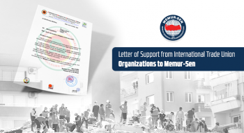 Letter of Support from International Trade Union Organizations to Memur-Sen