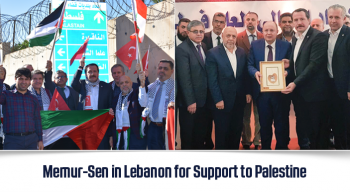 Memur-Sen in Lebanon for Support to Palestine