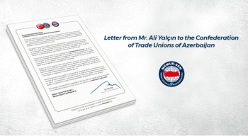 Letter from Mr. Ali Yalçın to the Confederation of Trade Unions of Azerbaijan