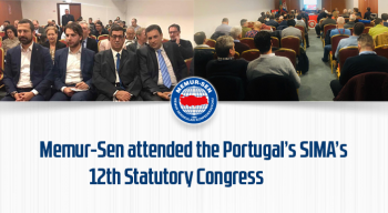 Memur-Sen attended the Portugal's SIMA's 12th Statutory Congress