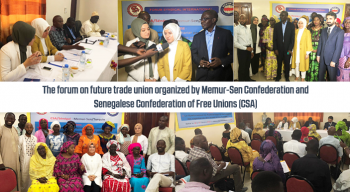 The forum on future trade union organized by Memur-Sen Confederation and Senegalese Confederation of Free Unions (CSA)
