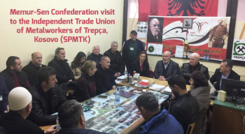 Memur-Sen Confederation visit to the Independent Trade Union of Metalworkers of Trepça, Kosovo (SPMTK)