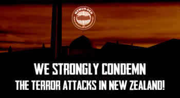 We strongly condemn the terror attacks in New Zealand!